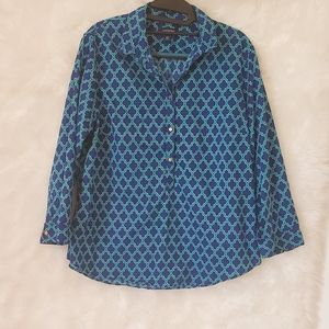 Lands End vibrant popover blog w/button up front